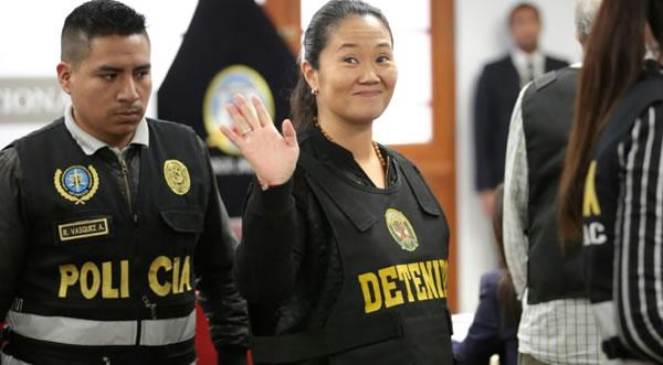 Tribunal peruano ordena liberar a la opositora Keiko Fujimori