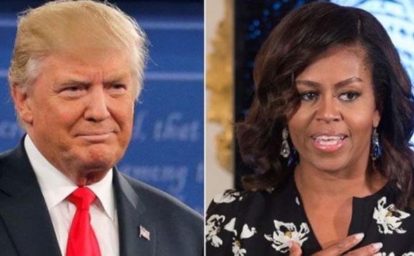 Trump contraataca: critica a Michelle Obama por su libro