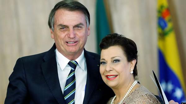 Presidente de Brasil reconoce a embajadora enviada por gobierno encargado de Venezuela