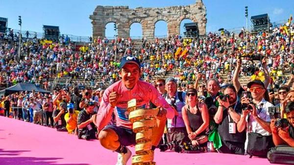 Pedalista ecuatoriano hace historia y conquista el Giro de Italia
