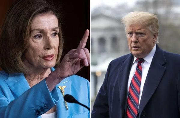 Nancy Pelosi desafía a Trump: El proceso que lo echaría de la Casa Blanca continúa