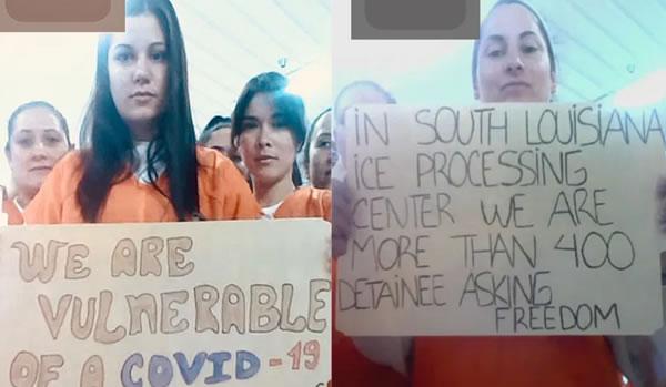 Inmigrantes detenidas por ICE en Louisana exigen liberación por riesgo de coronavirus
