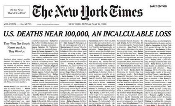"New York Times marca ""una pérdida incalculable"" por pandemia"