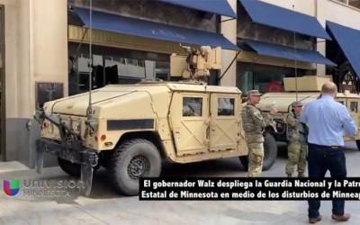 Walz despliega la Guardia Nacional y la Patrulla Estatal de Minnesota en medio de los disturbios