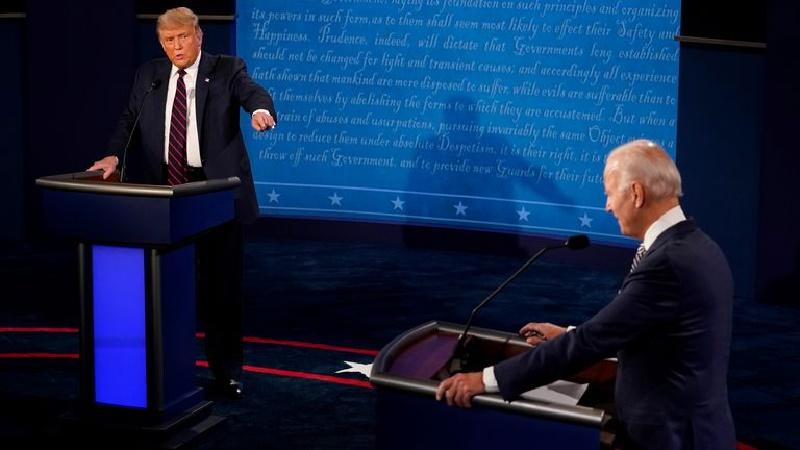 Trump y Biden protagonizan un debate marcado por las constantes interrupciones
