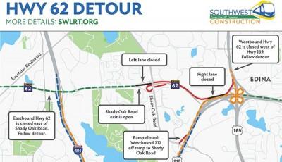 Highway 62 cierra el jueves por la noche hasta el fin de semana