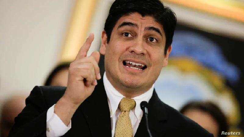 """Presidente de Costa Rica: """"La migración es como una fiebre"""""""