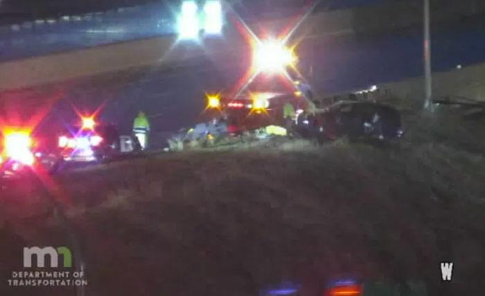 accidente en la I-35W en Minneapolis