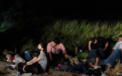 Migrantes en la frontera sur
